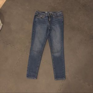 Mossimo mid-rise skinny jeans.
